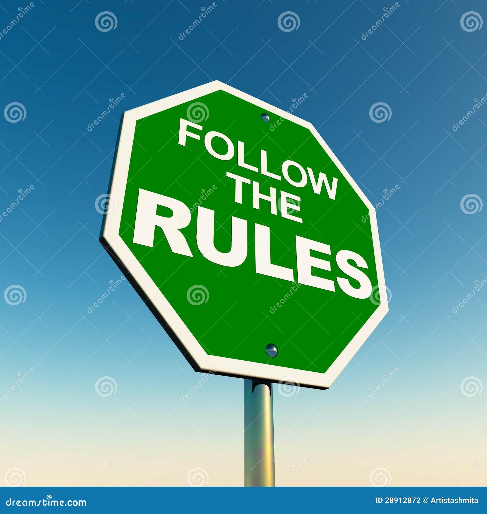 Folgen Sie den Regeln