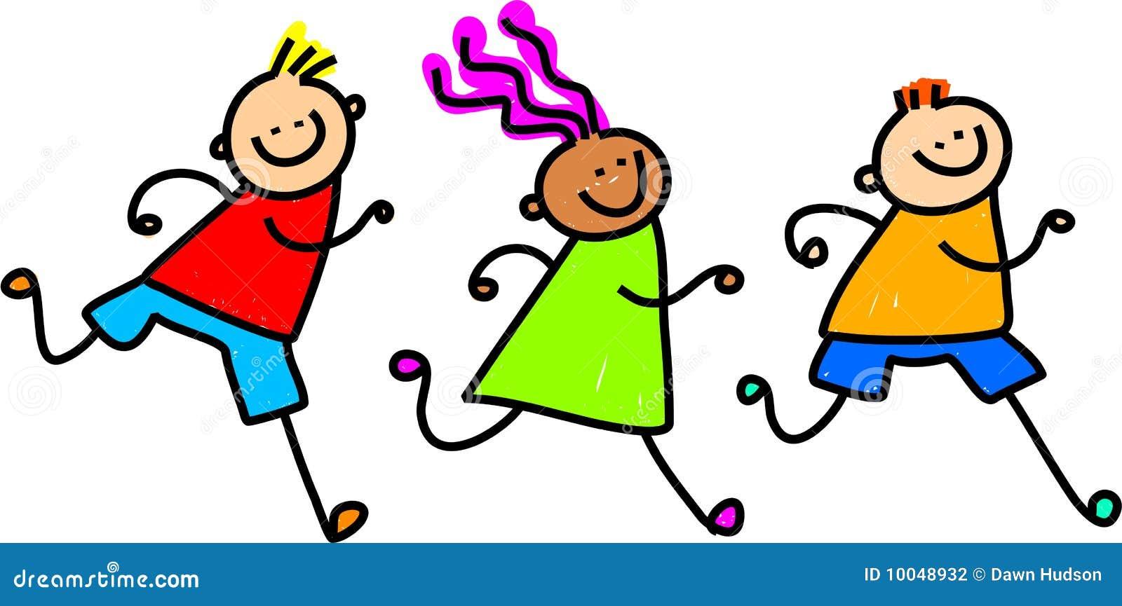 Folgende Kinder Stockfotografie - Bild: 10048932