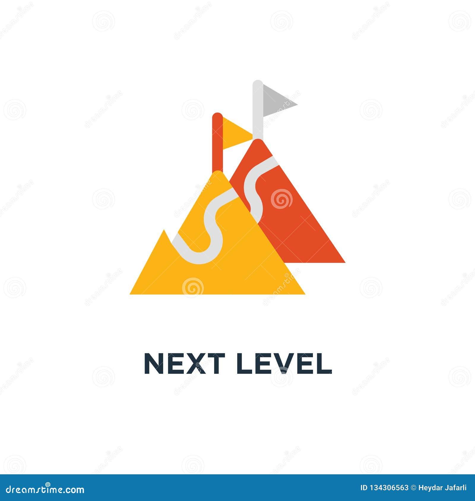 Folgende waagerecht ausgerichtete Ikone Verbesserung, langfristiger Ehrgeiz, zukünftiger Aspirationskonzeptsymbolentwurf, Weise z