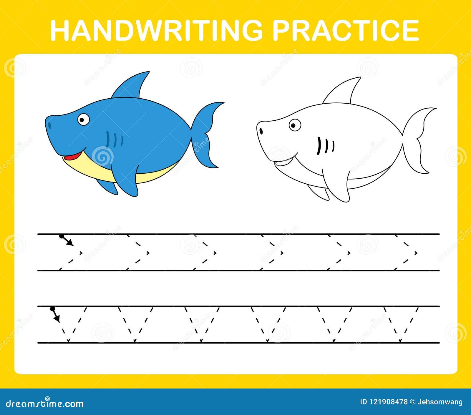 Folha da prática da escrita
