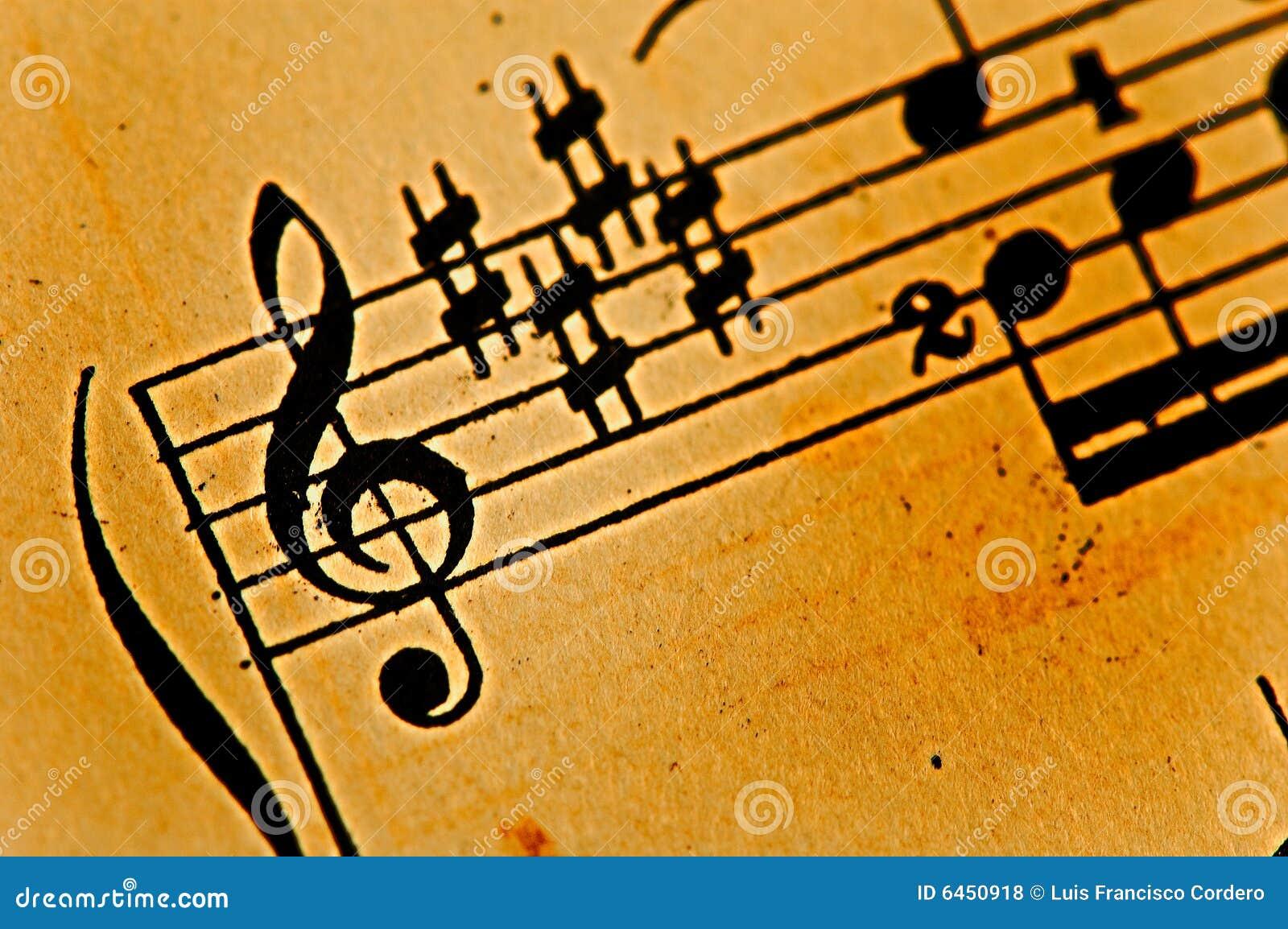 Folha de música antiga