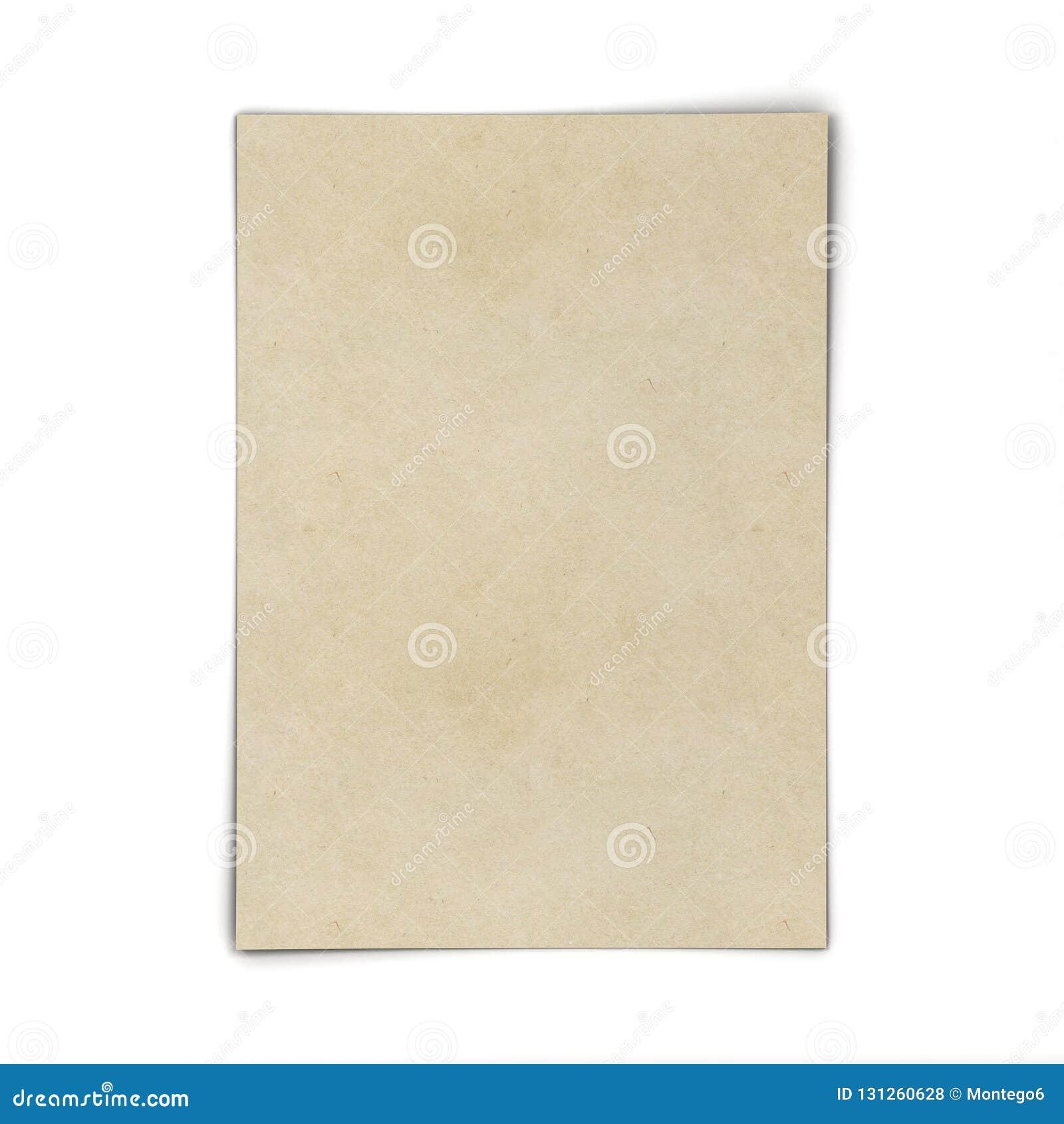 Folha de papel em branco