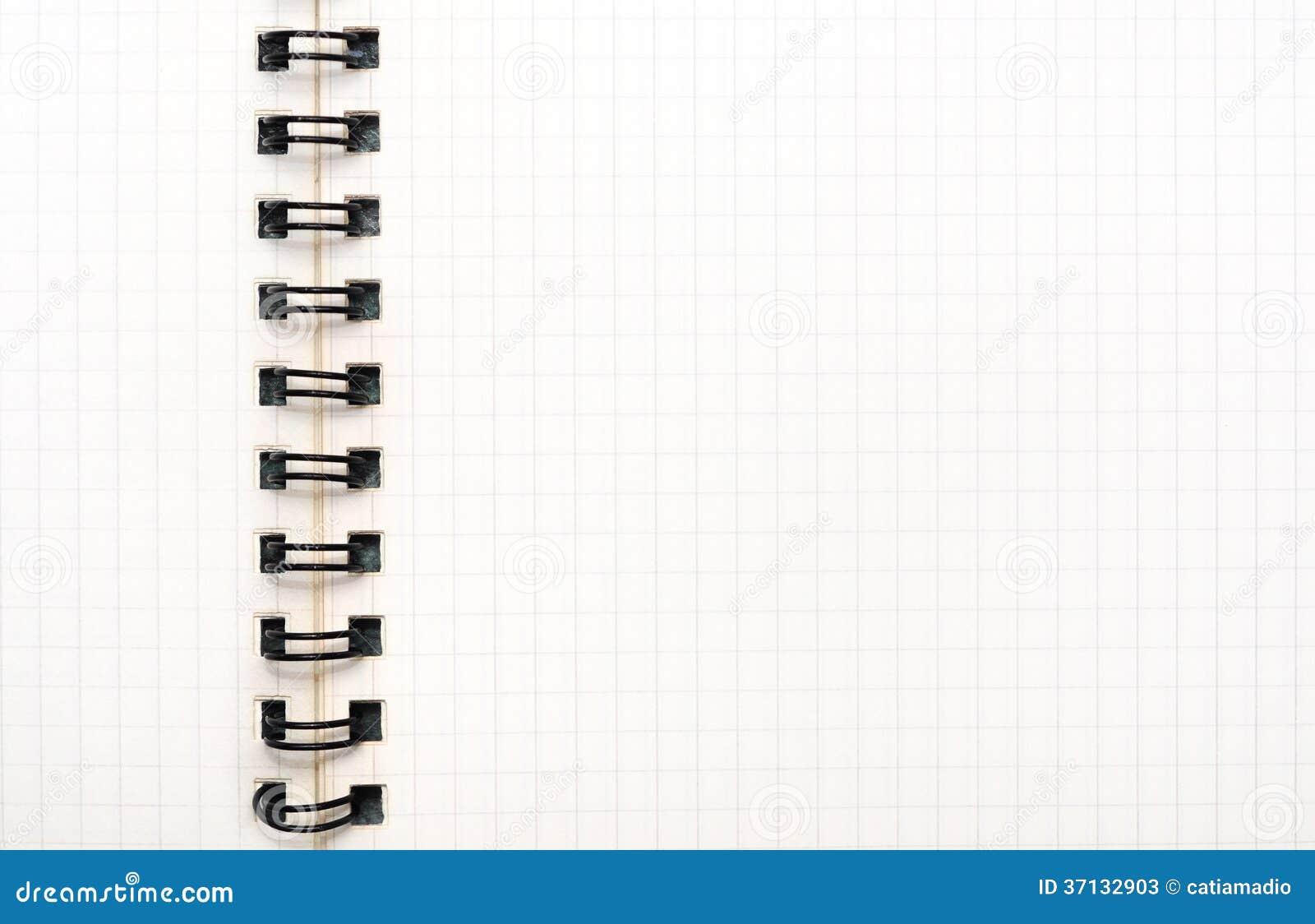 Libreta De Hojas Blancas De Dibujo Jpg By Gianferdinand: Folha Esquadrada Do Caderno Fotos De Stock