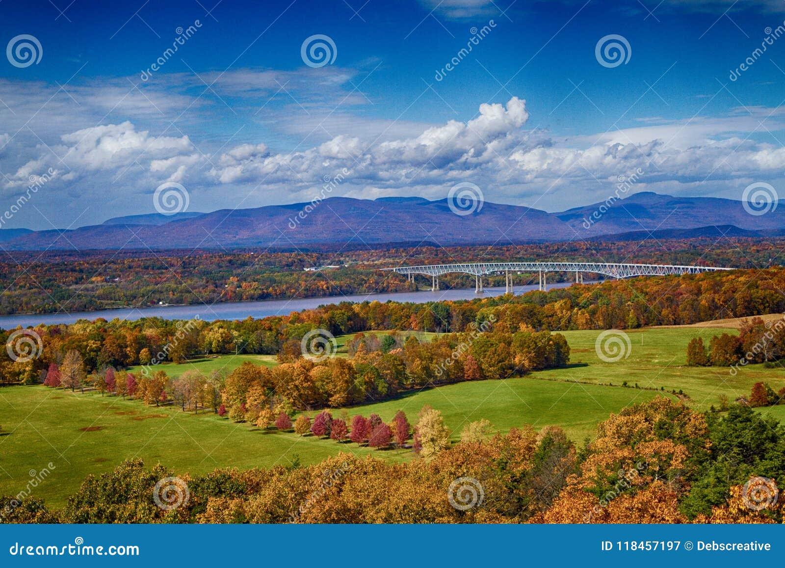 Folhagem de outono em Rhinebeck, NY