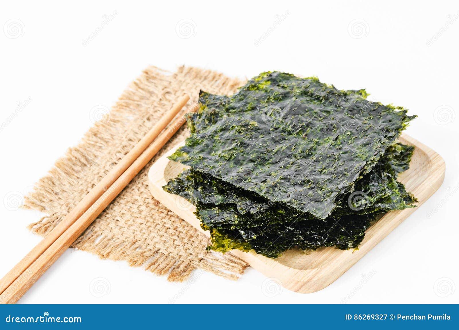 Folhas de alga secas do nori japonês do alimento