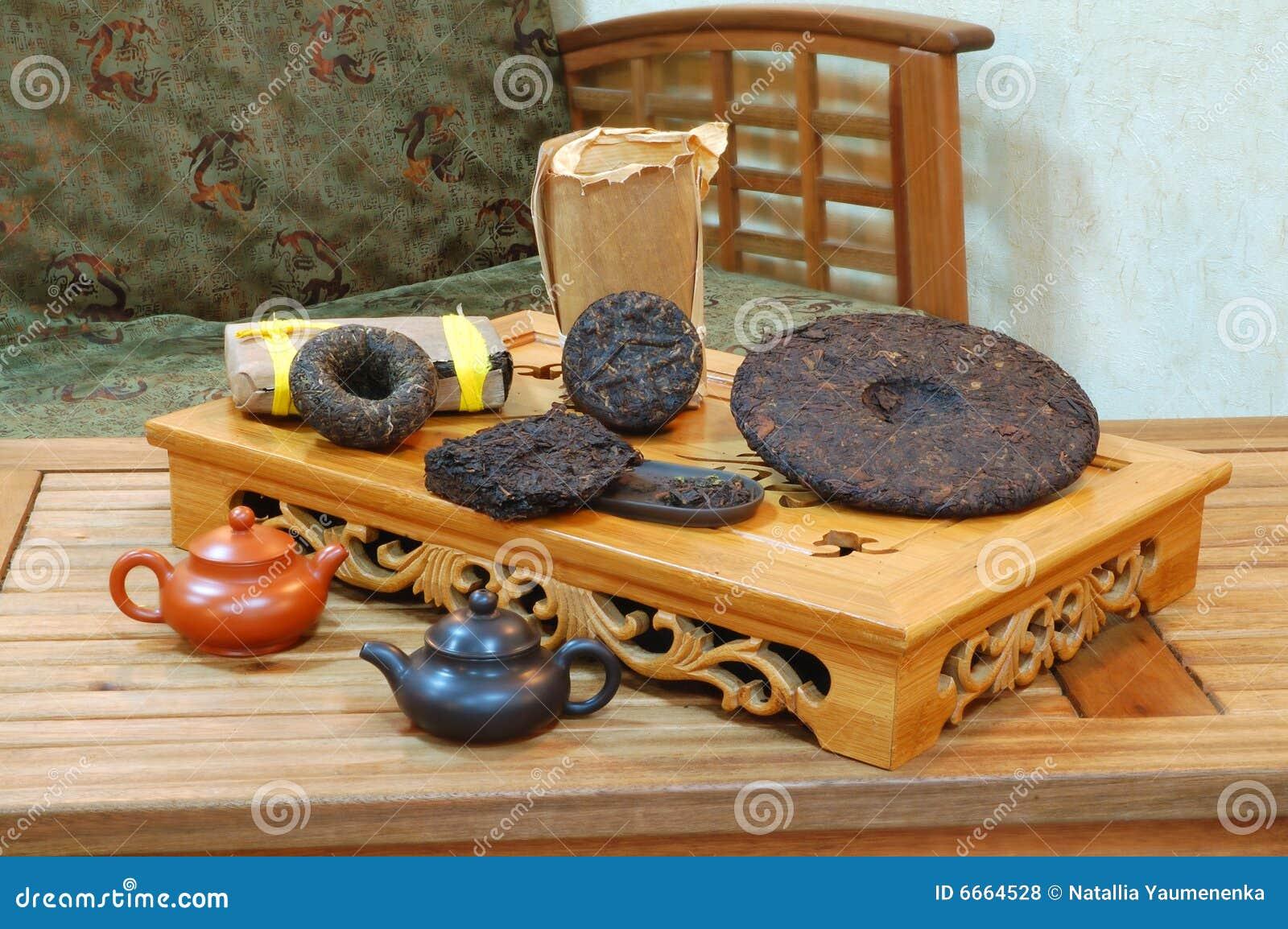 Folhas de chá aromáticas de plutônio-erh do preto.