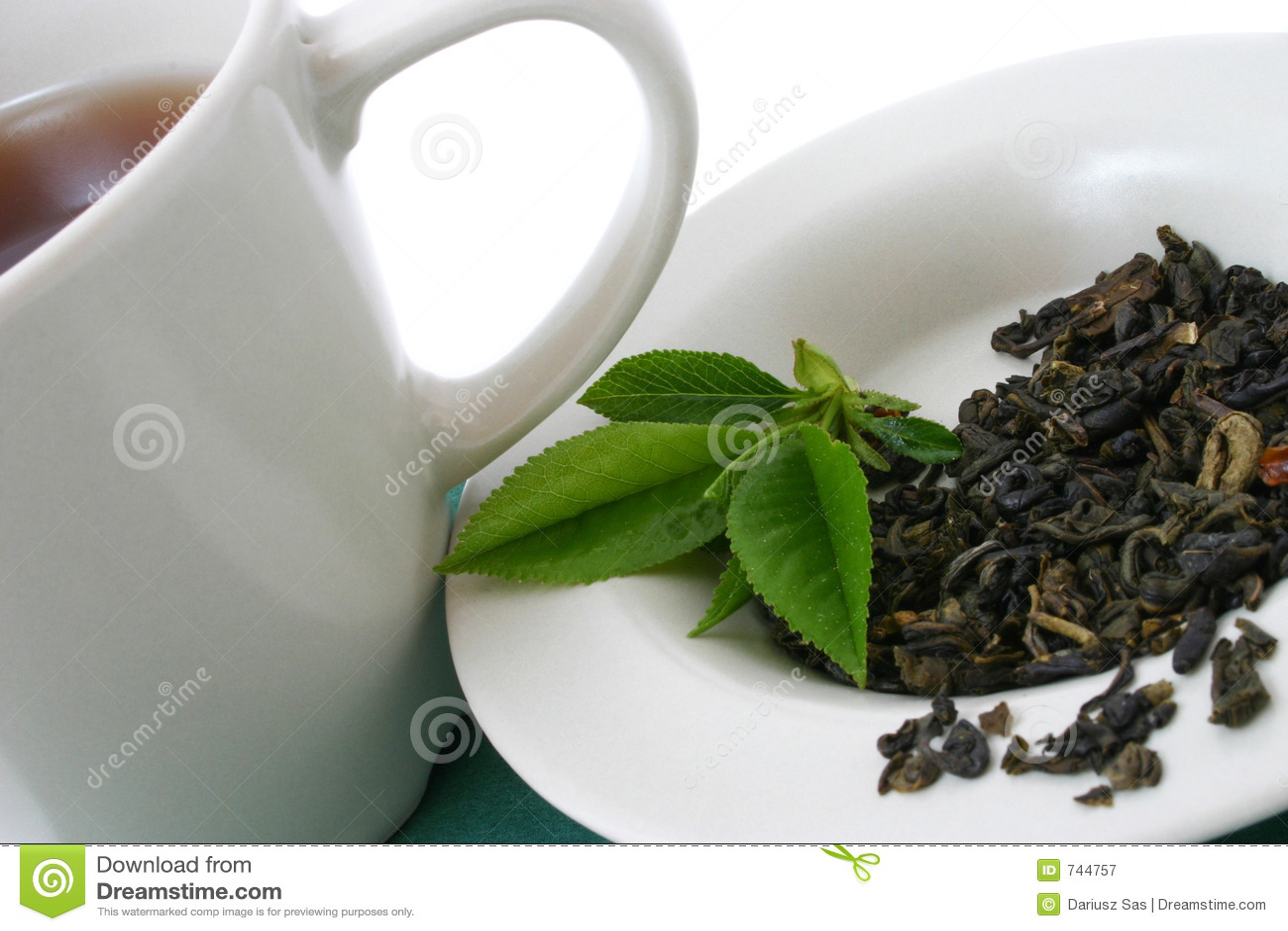 Folhas de chá secadas