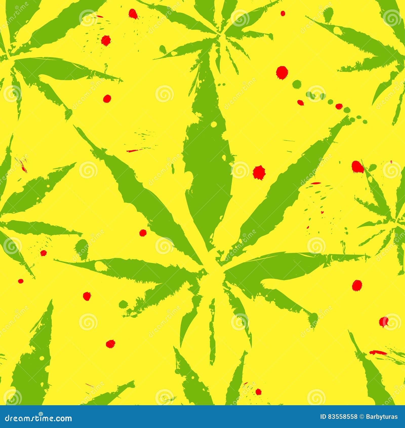 Folhas do cannabis - teste padrão sem emenda