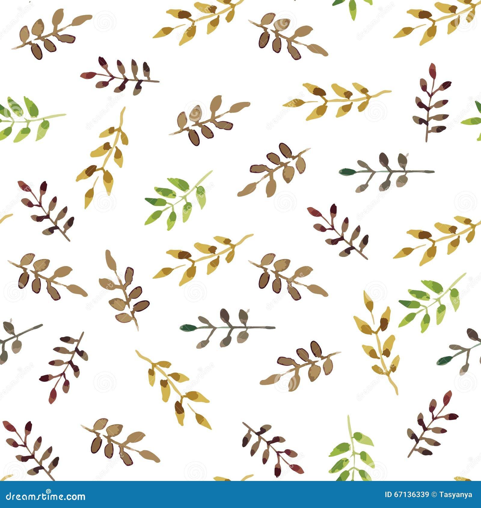 Folhas sem emenda do verde da aquarela
