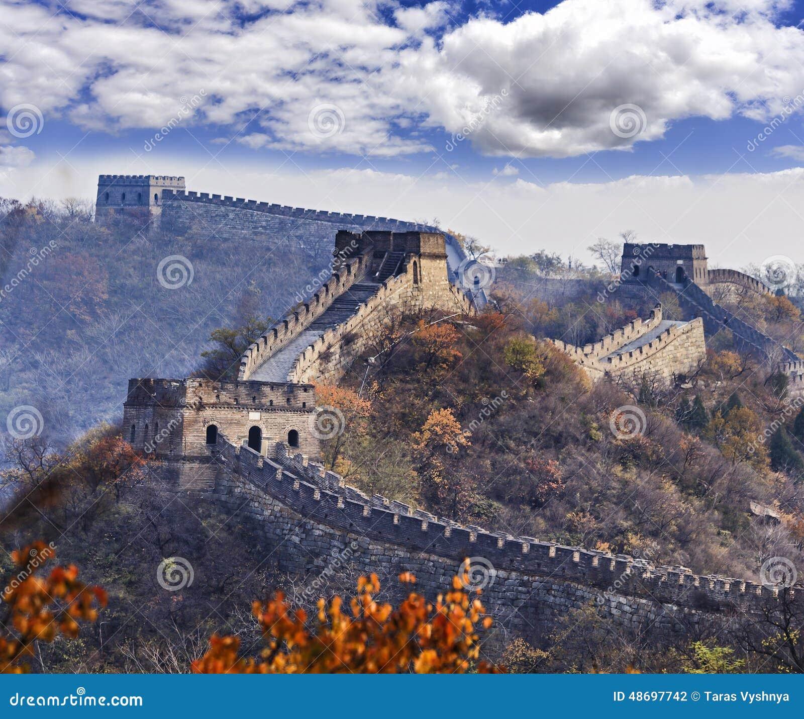Folhas Tele do Grande Muralha de China