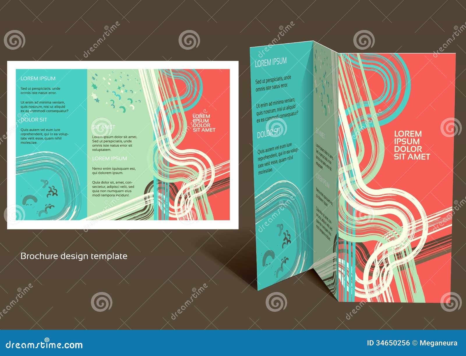 : Folheto disposição da z dobra da brochura. Projeto editável t #BB1910 1300 1011
