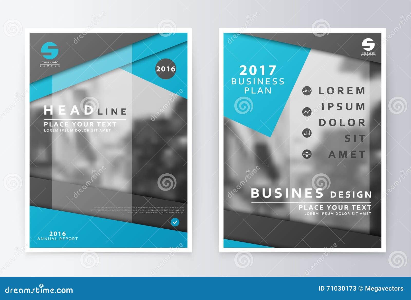 Folheto do informe anual Molde do projeto do inseto do plano de negócios