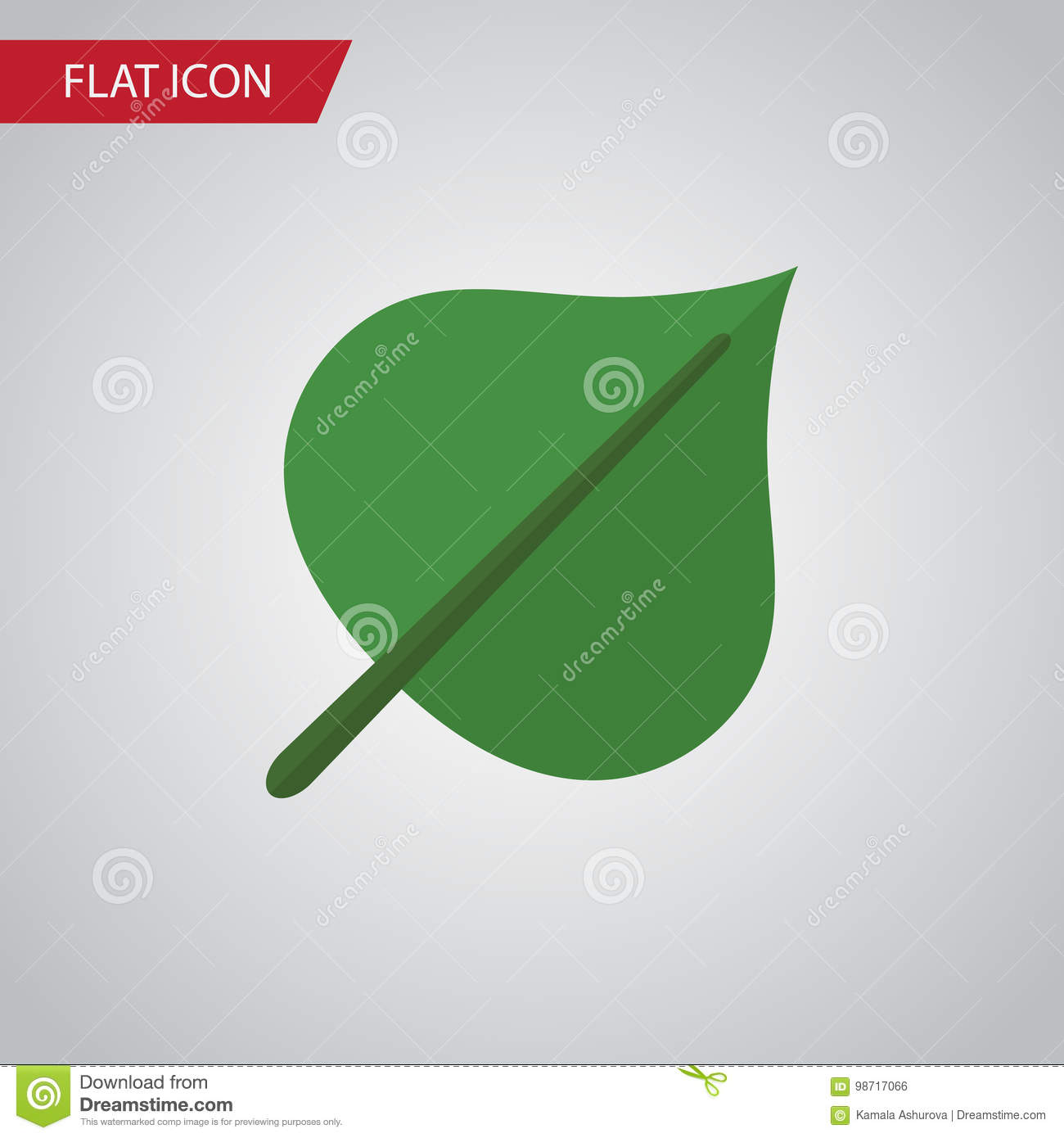 Foliage Flat Icon. Hickory Vector Element Can Be Used For Hickory, Foliage, Leaf Design Concept.