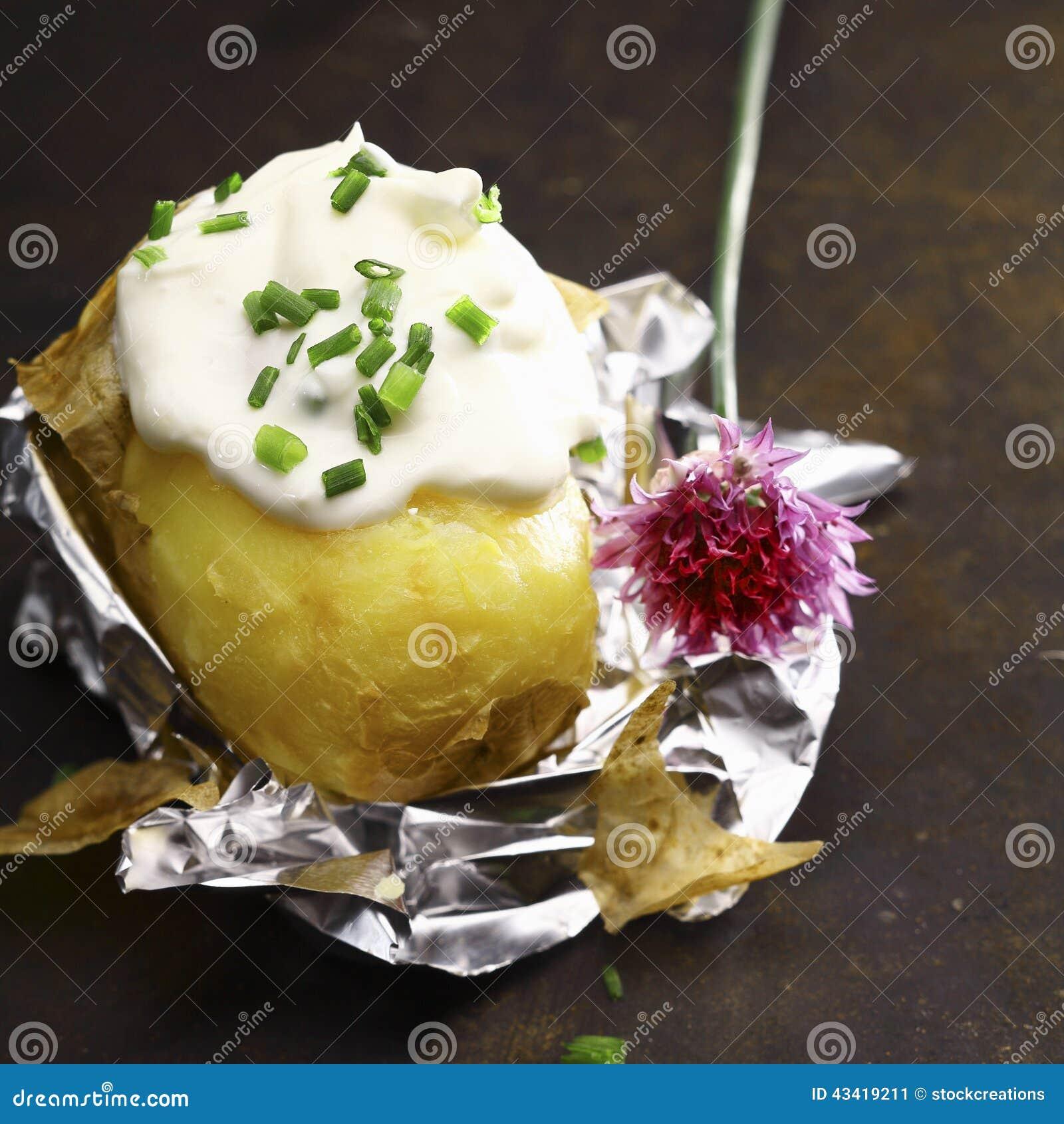 bakad potatis folie