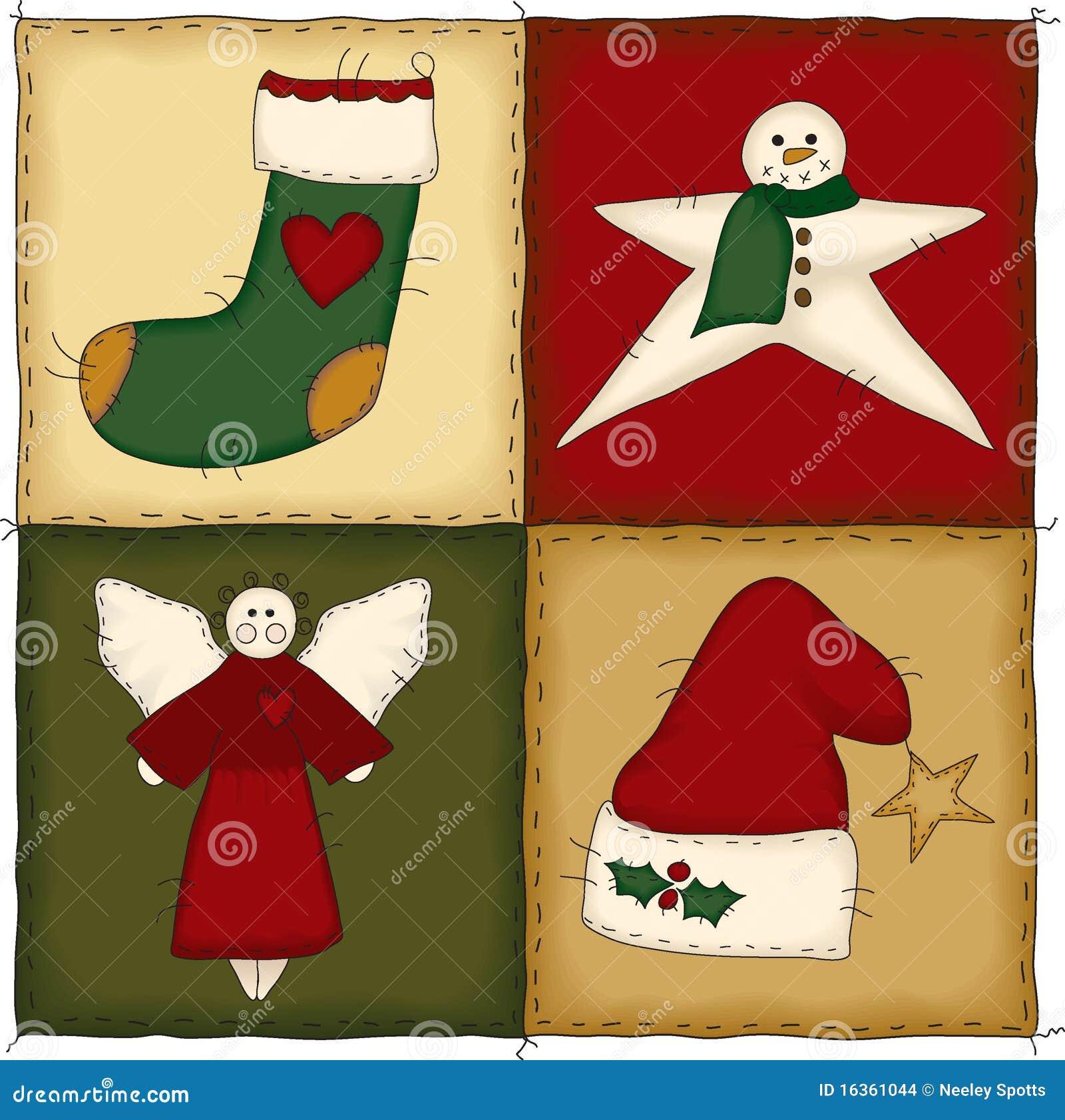 Folk Art Christmas Quilt Stock Images Image 16361044