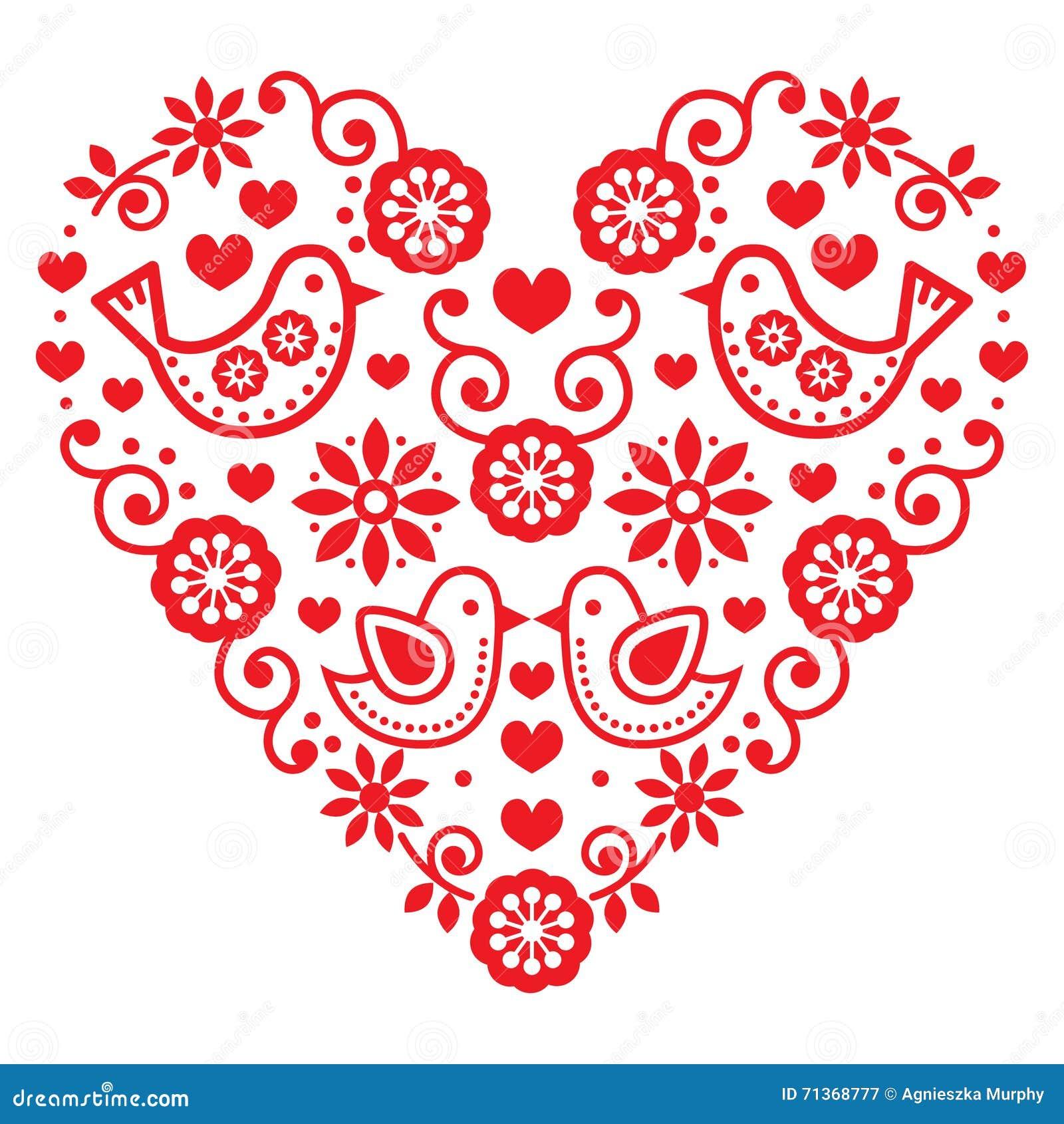 Folk Art Valentines Day Heart Love Wedding Birthday Greetings – Ukrainian Birthday Greetings