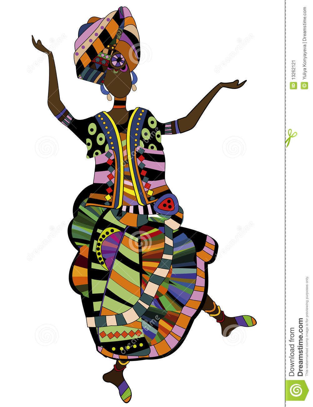 folk dance stock vector illustration of actress human 13262121 rh dreamstime com African Dancers Book Clip Art