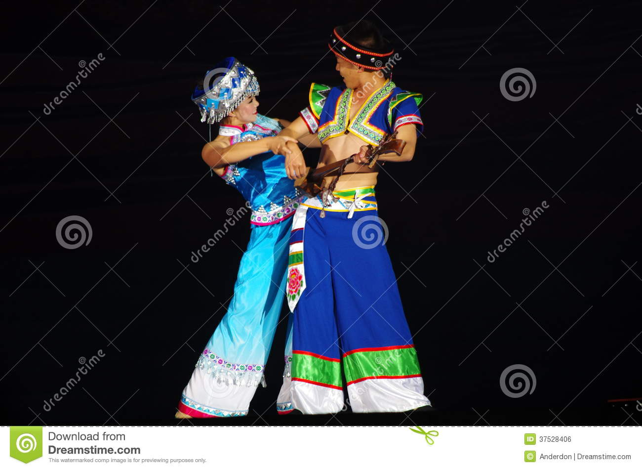 Folk dance of chinese editorial photo  Image of female