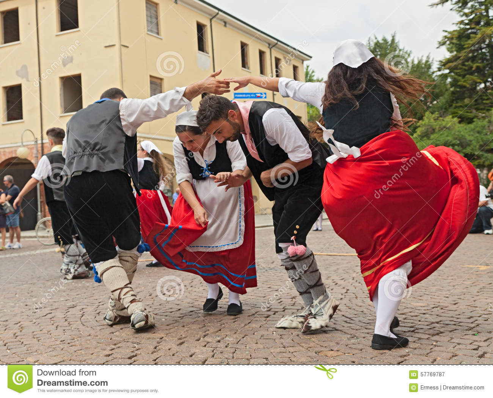 Folk Dance Ensemble From Calabria Italy Editorial