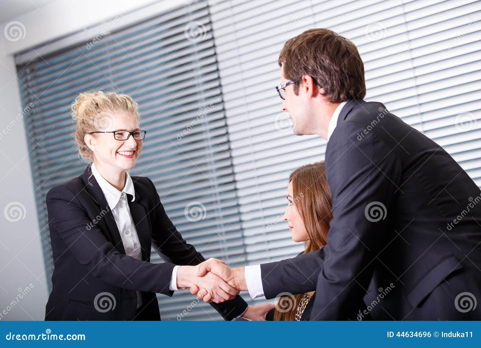 Folk för affärsmöte