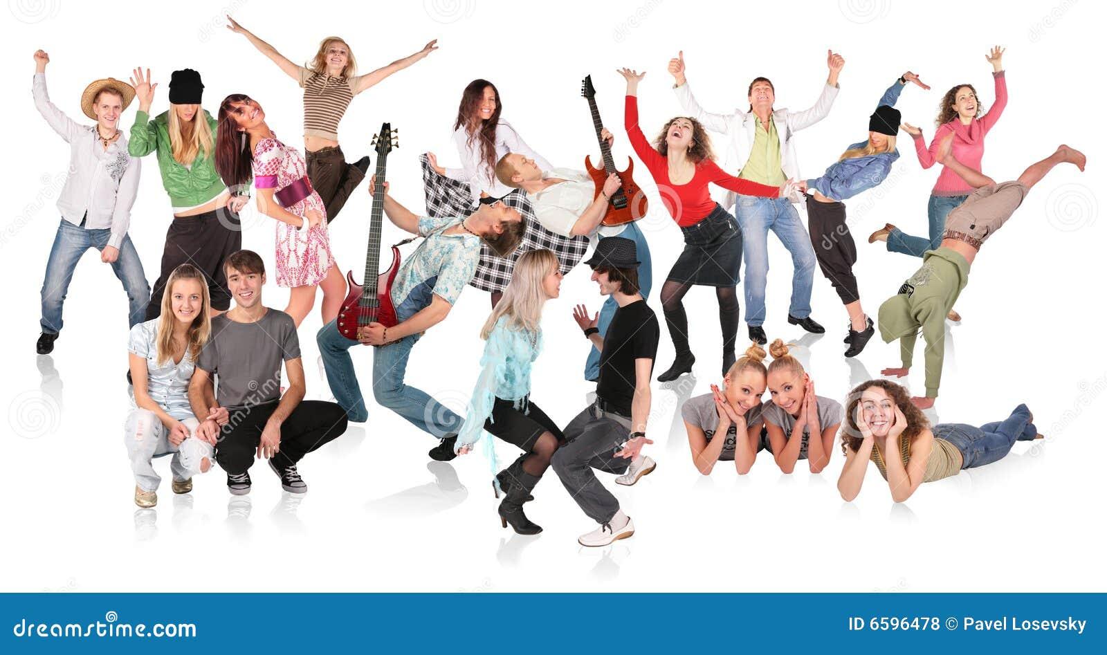 Folk för dansgruppdeltagare