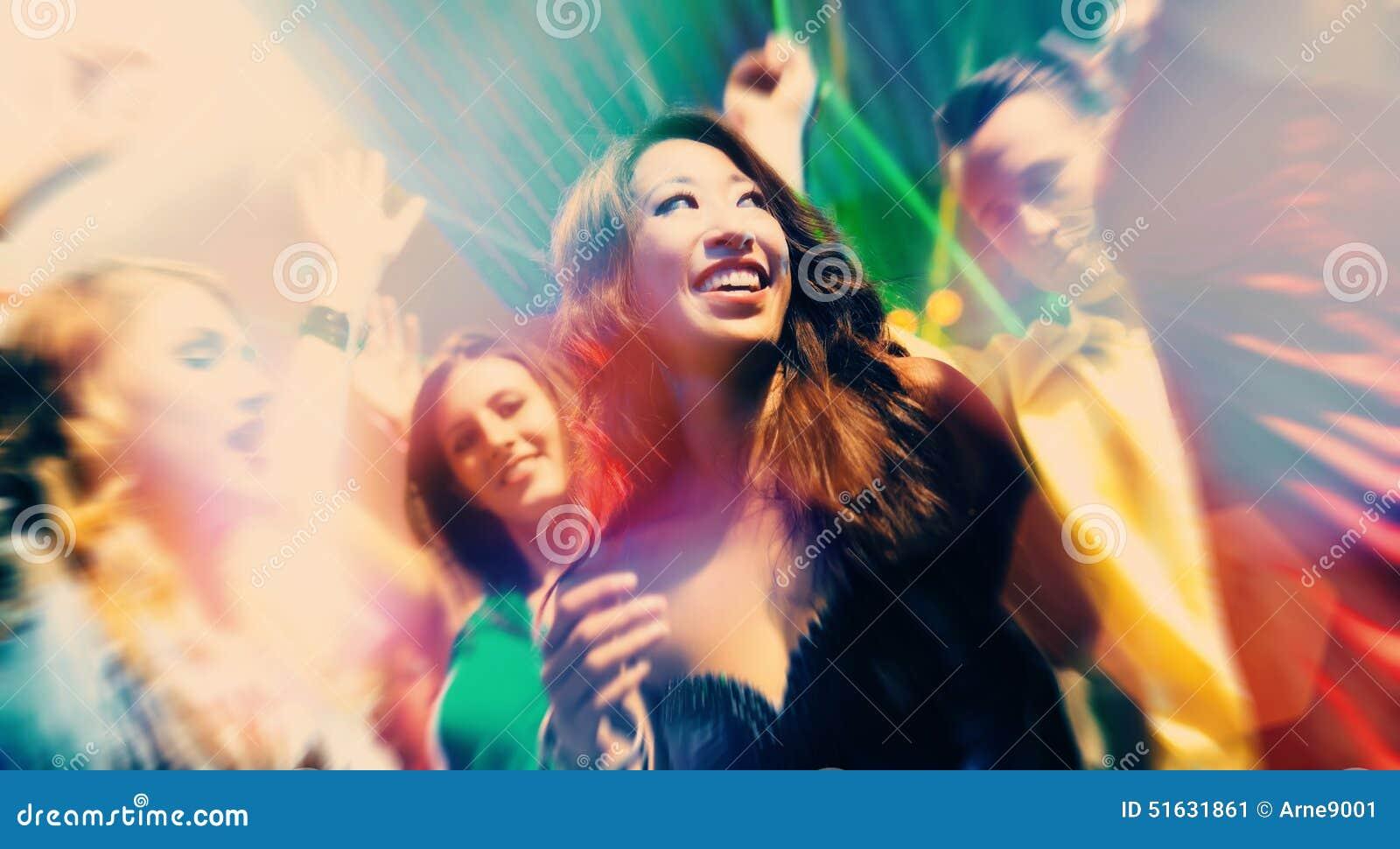 Folk för deltagare för klubbadansdisko
