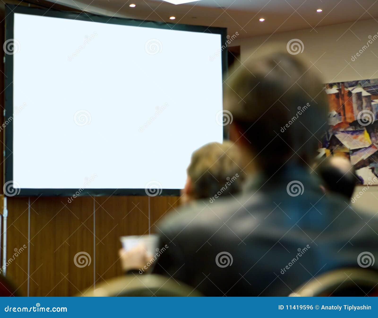 Folk för full korridor för konferens deltagande