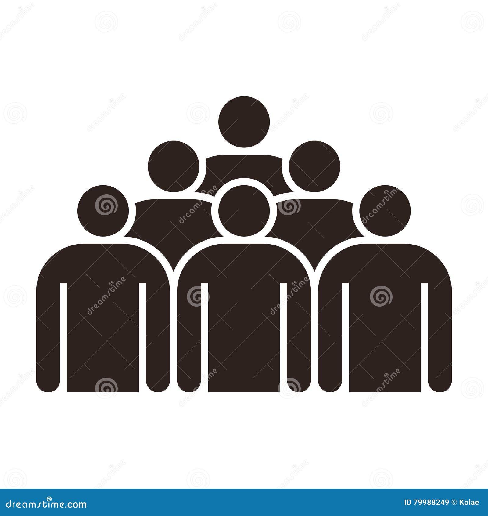 Folk för gruppsymbol