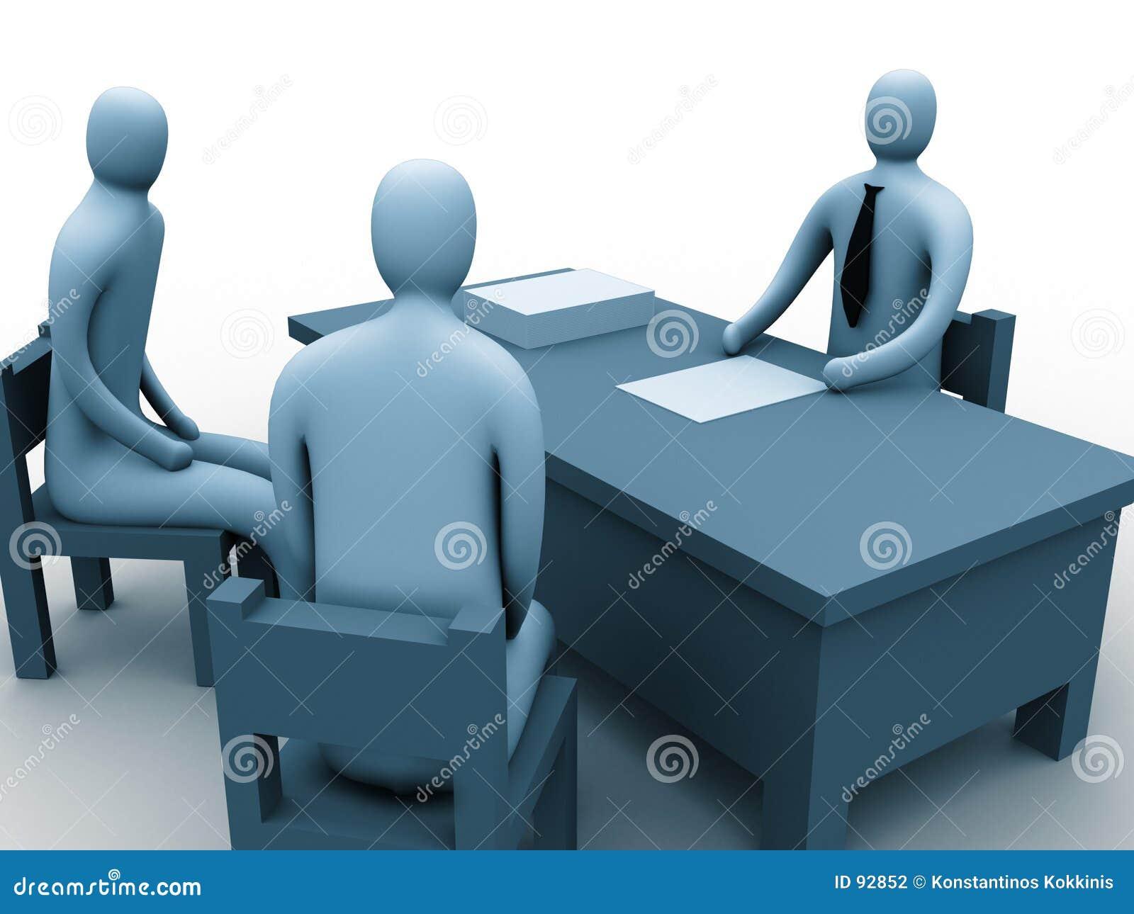 Folk för kontor 3d