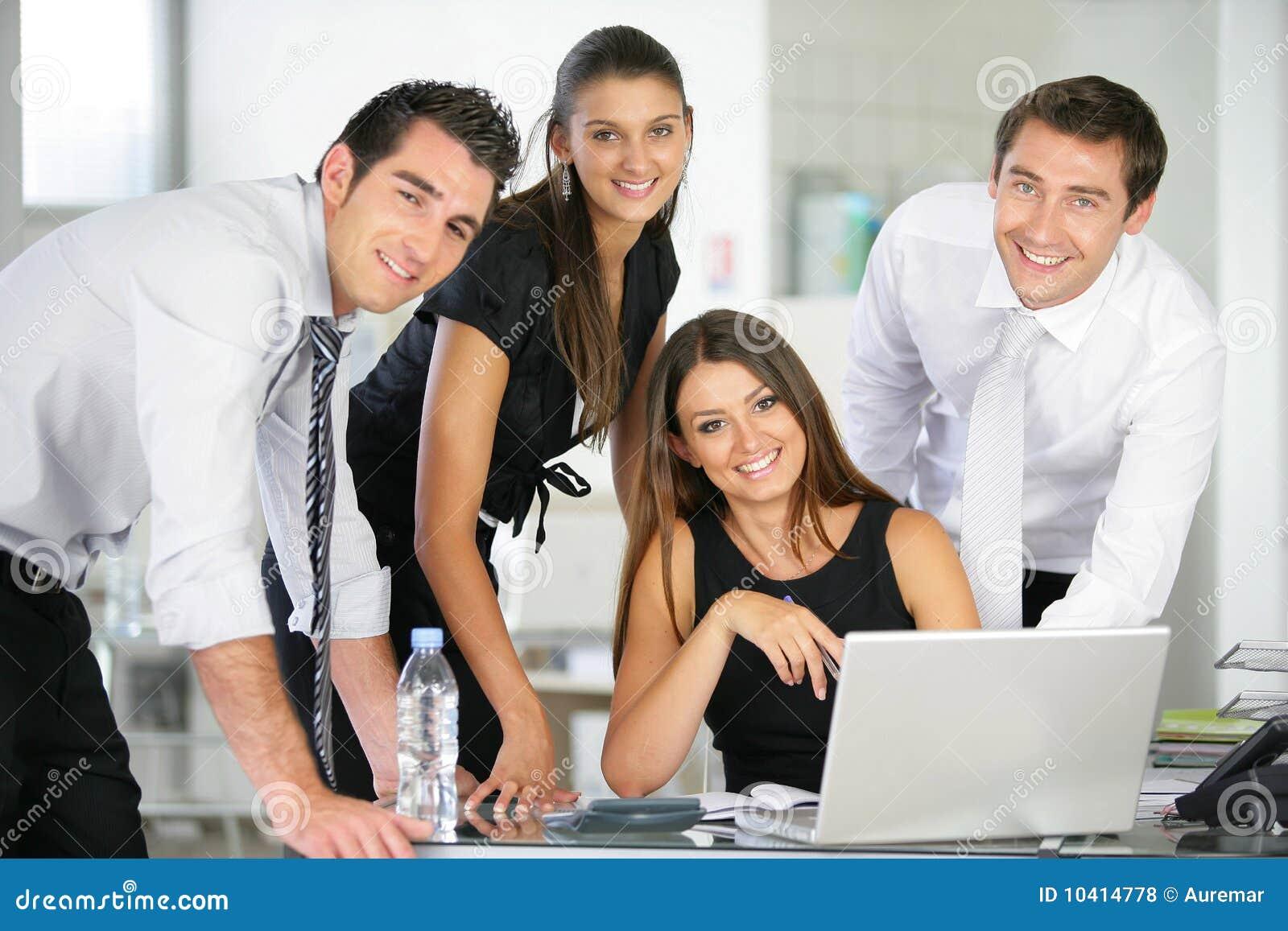 Folk för kontor för affärsgrupp