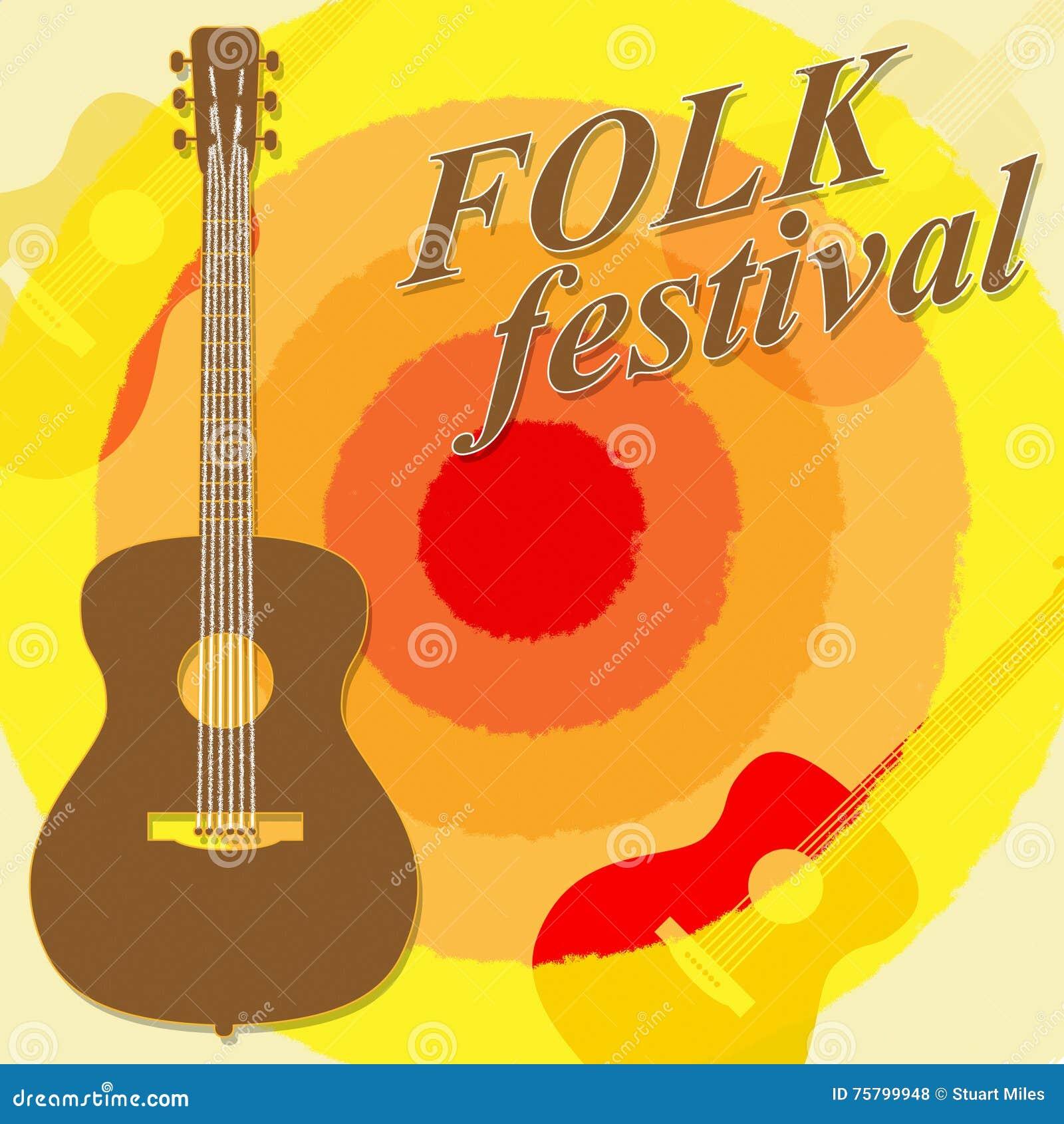Folk Festival Shows Country Music And Ballard Stock