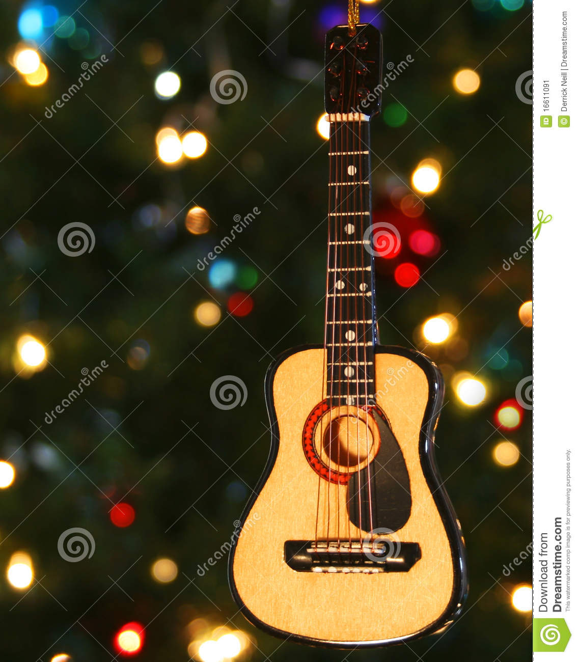 A Folk Guitar Ornament Stock Image - Image: 16611091