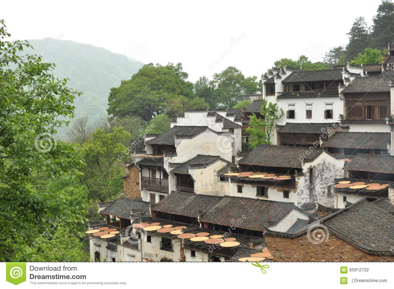 Chinese Ancient Folk Houses In Countryside Royalty Free