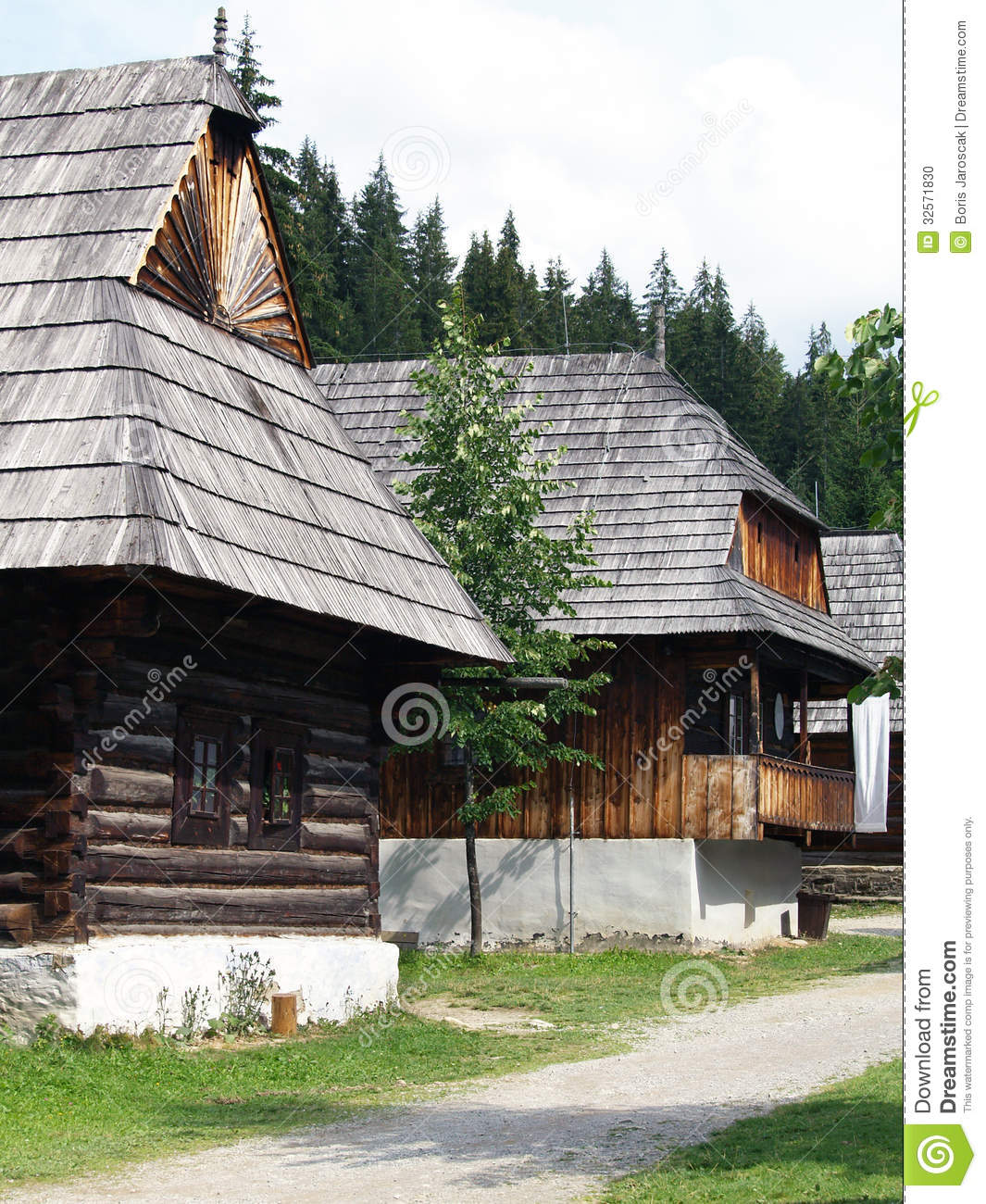 Folk houses in Zuberec museum