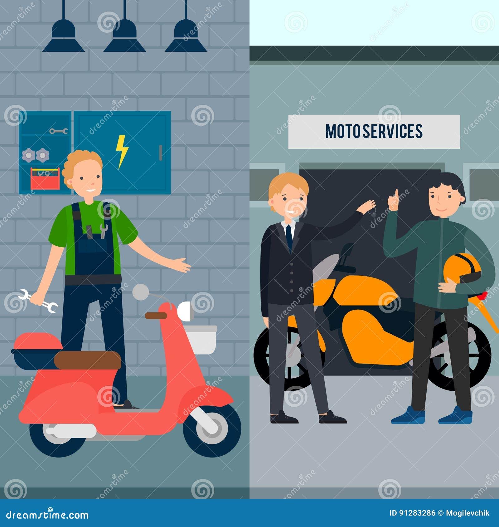Folk i baner för Moto servicelodlinje