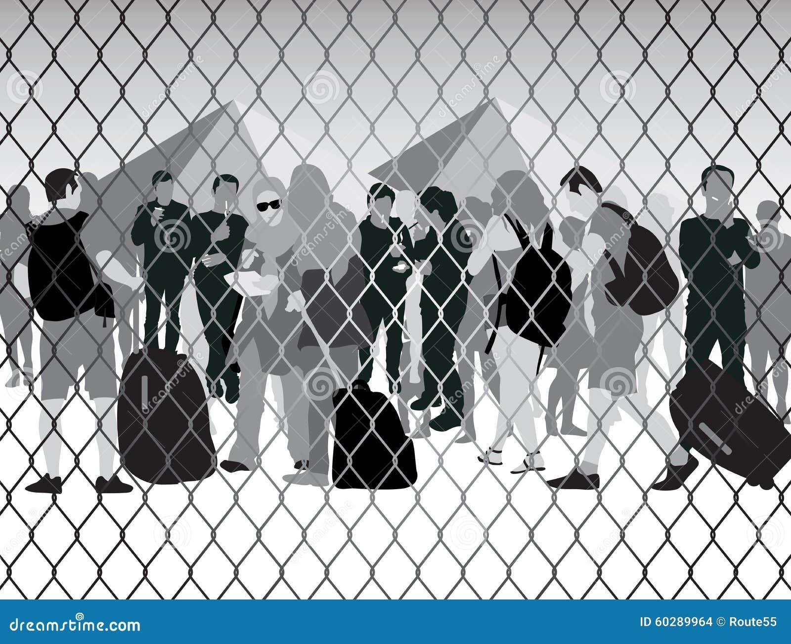 Folk i flyktingläger
