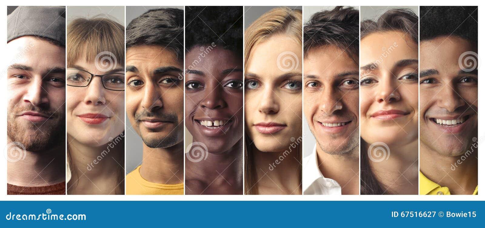 Folk med olika uttryck