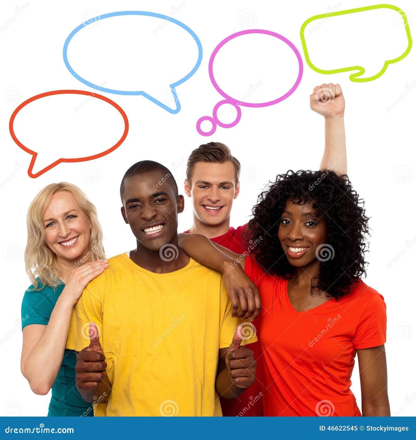 Folk- och anförandebubbladesign