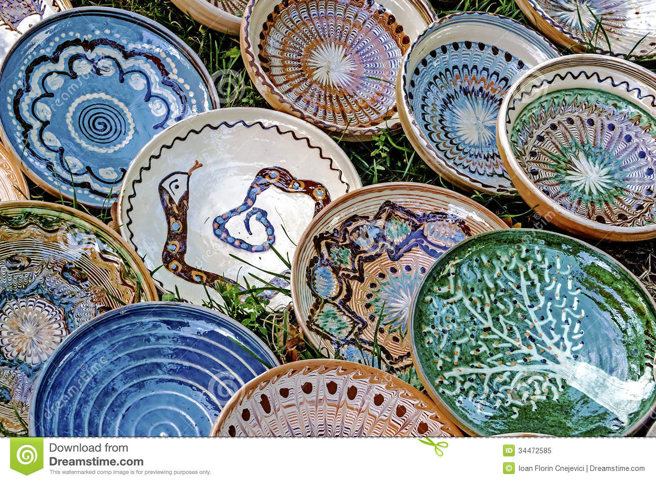 Folk pottery 12 stock image image of culture clay for Where to buy ceramic plates to paint