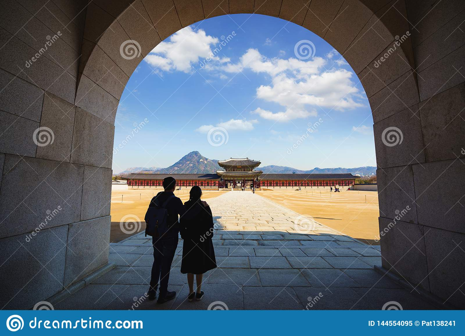 Folk slott f?r national f?r gyeongbokgungkorea museum