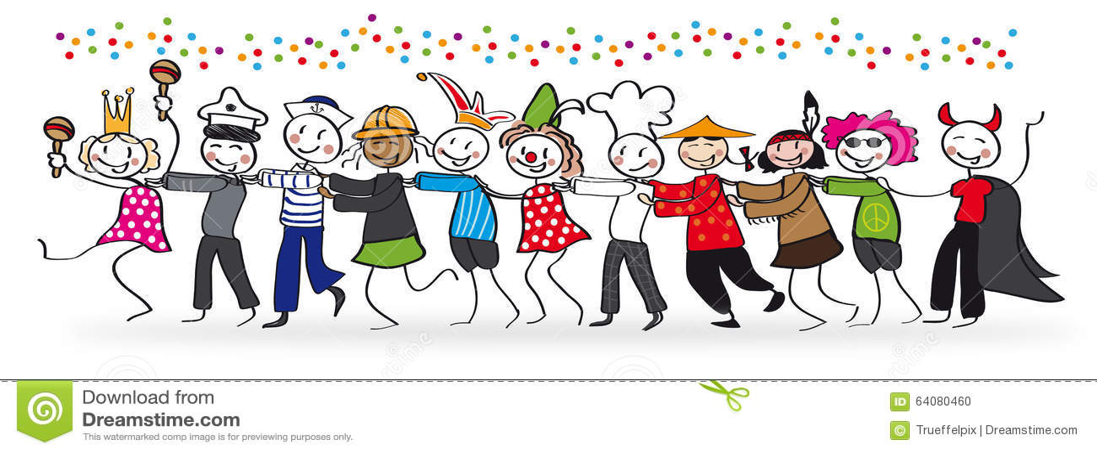 Folk som firar karneval