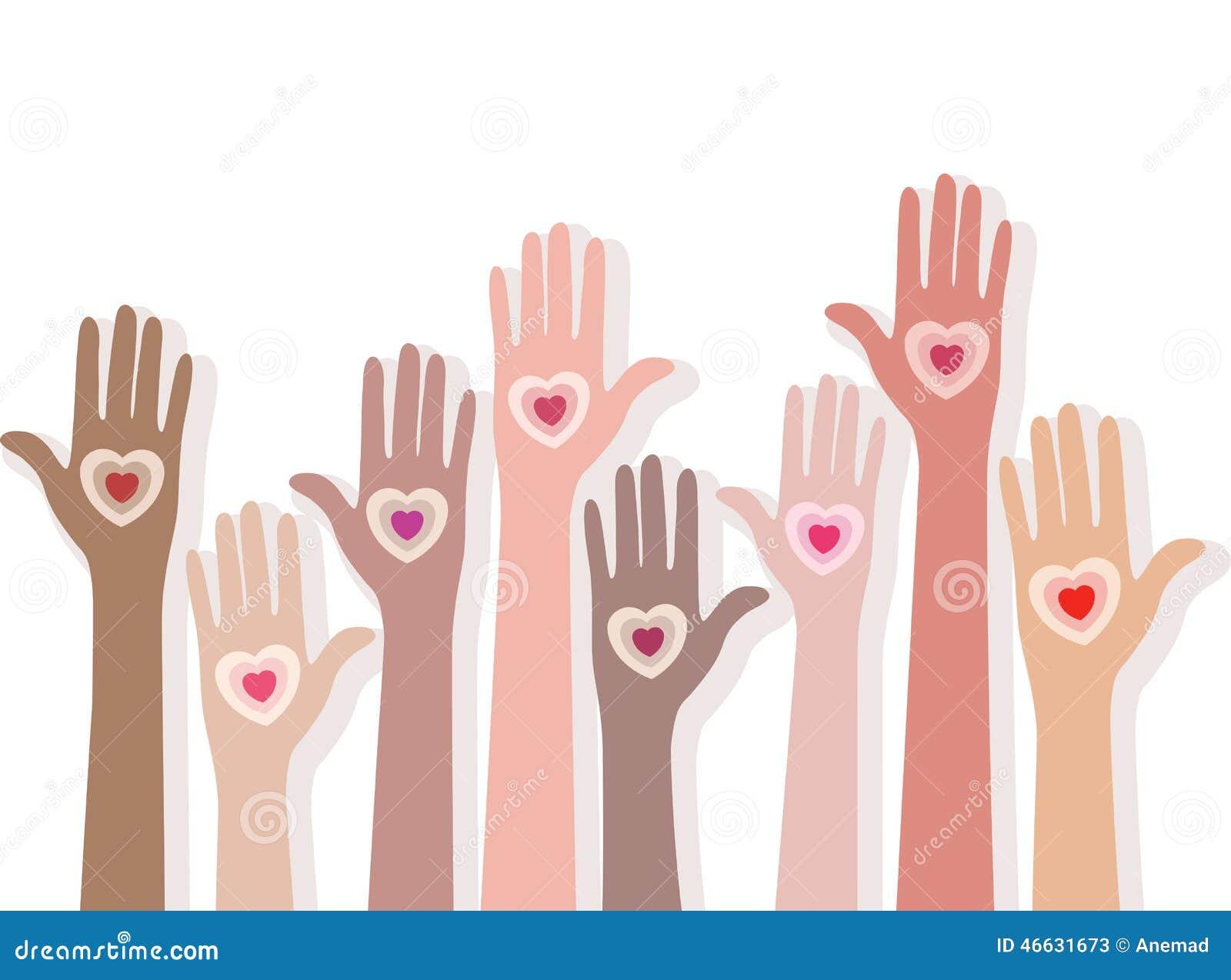 Folk som ger deras förälskelse