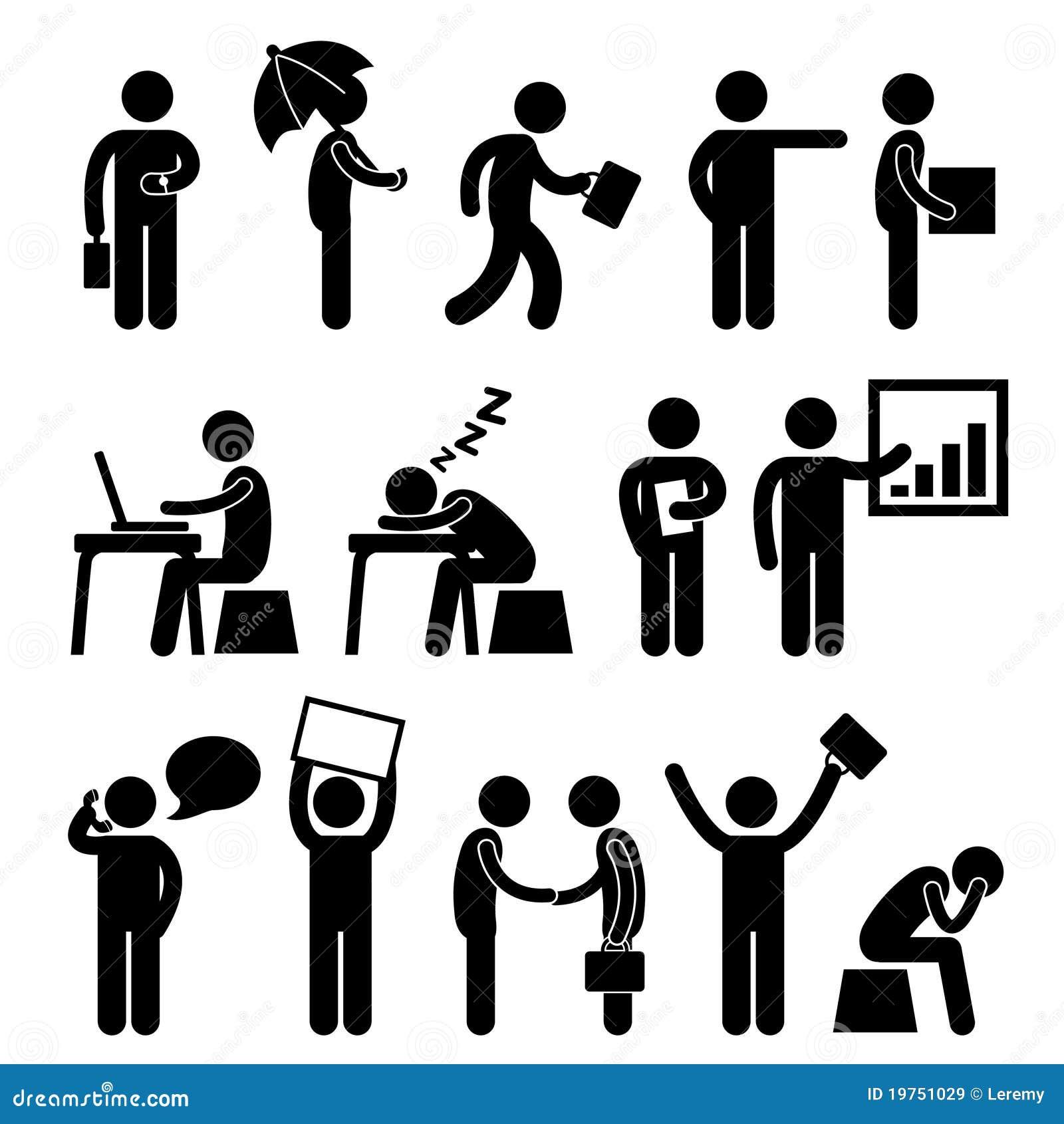 Folket för kontor för affärsfinansman fungerar arbetsplatsen