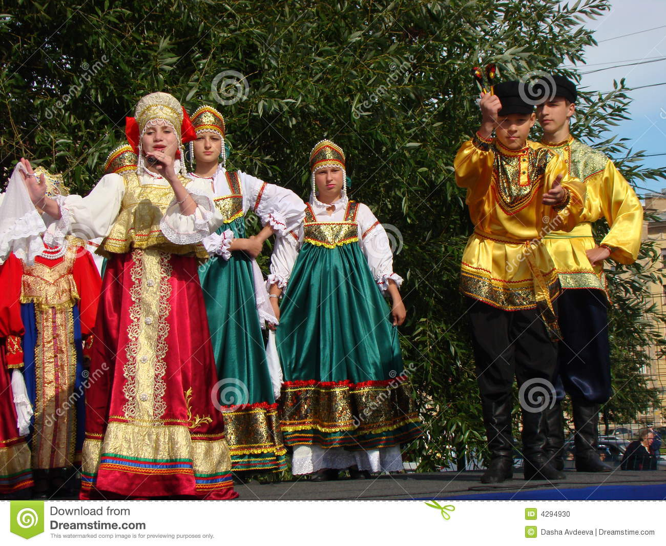 Folklore Ensemble Of Russian National Song Editorial Image ...