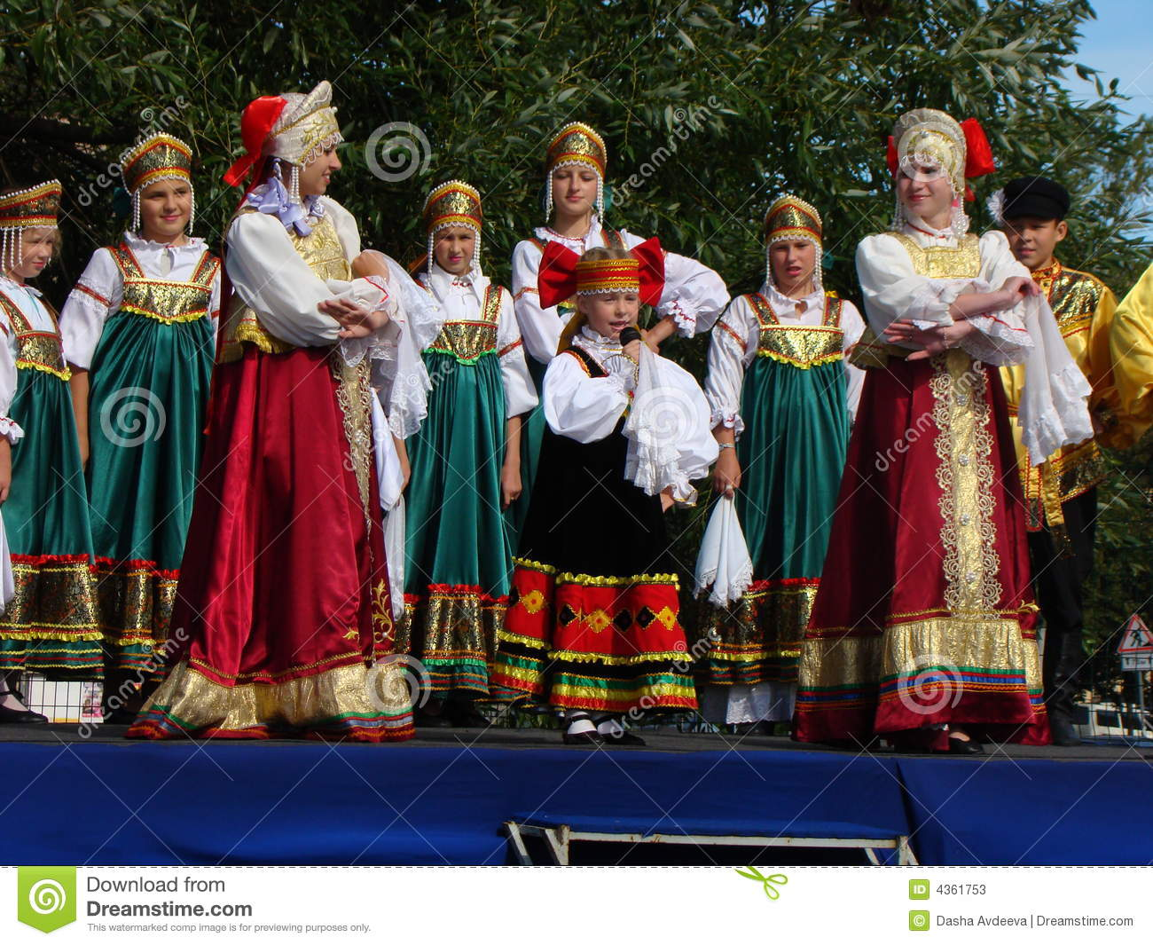 Folklore Ensemble Of Russian National Song Editorial Stock ...