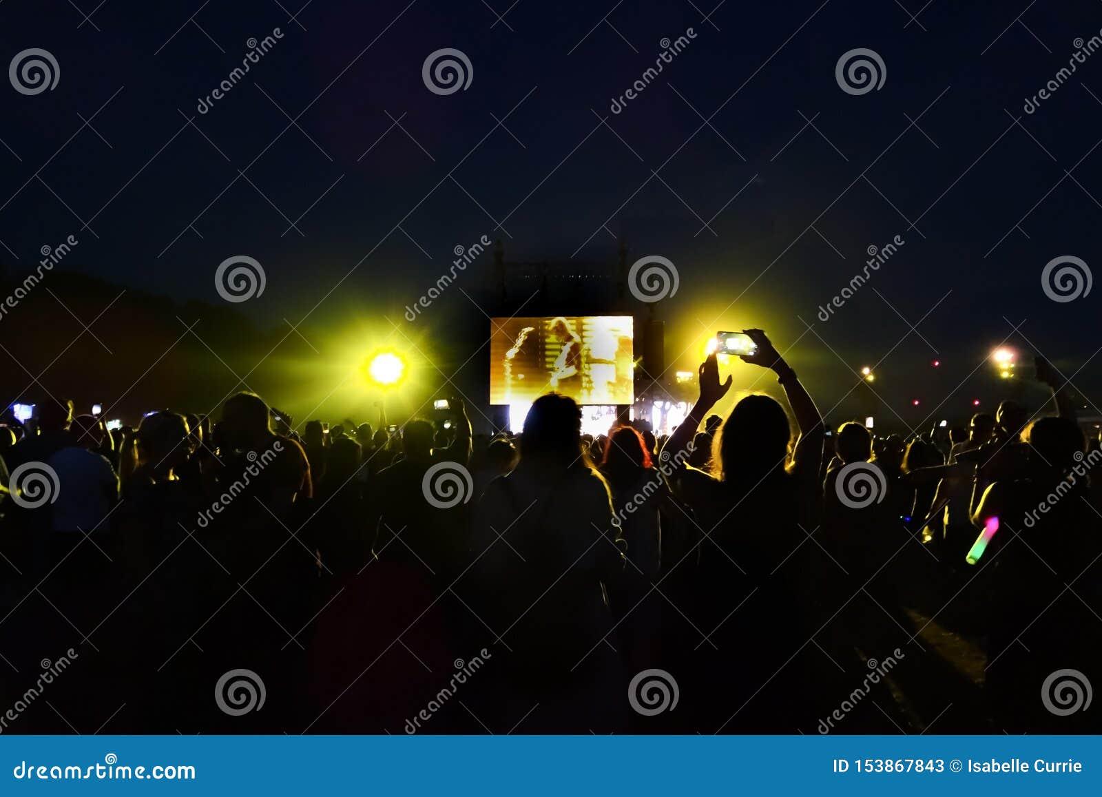 Folla ad un concerto rock