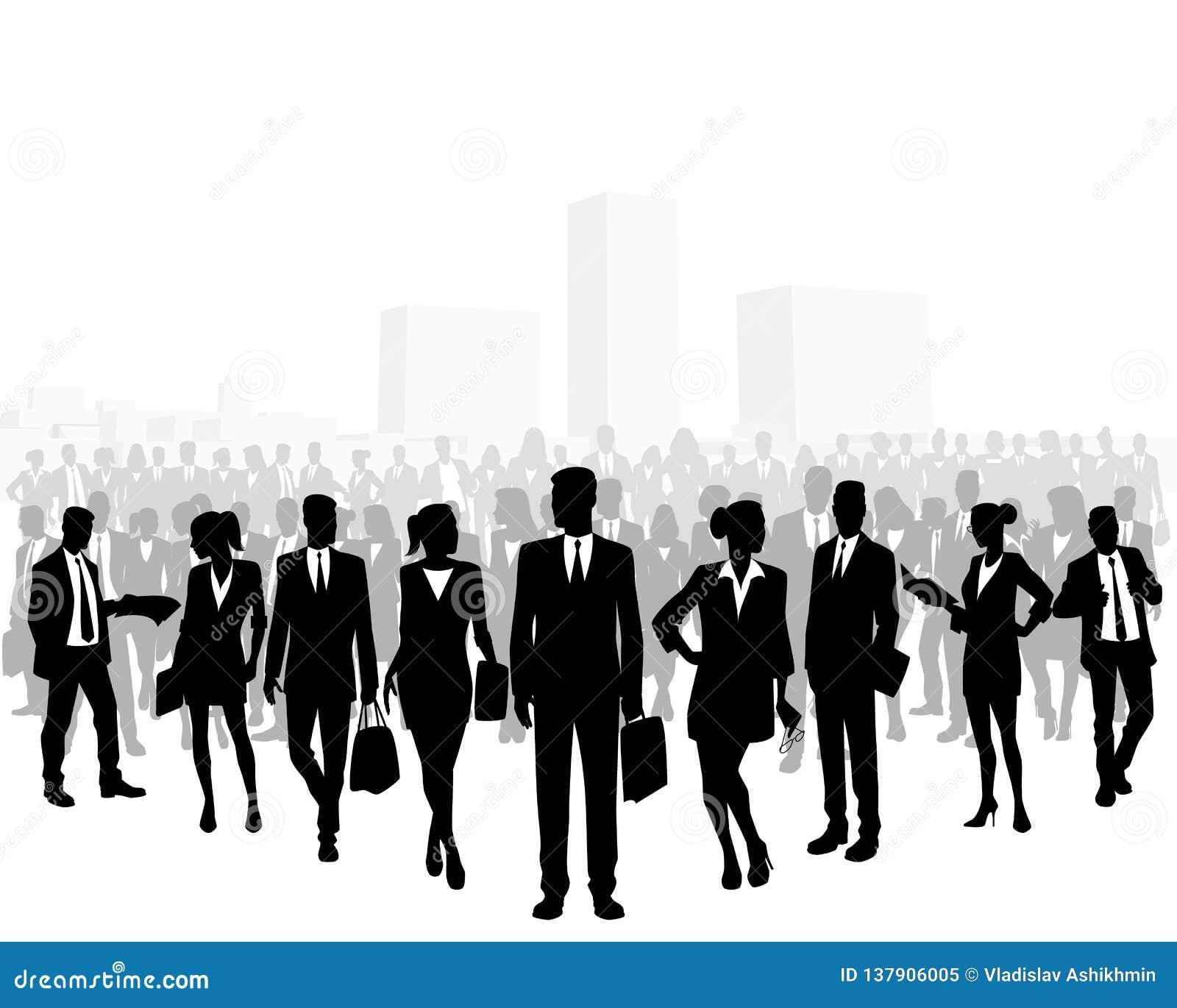 Folla enorme della gente di affari