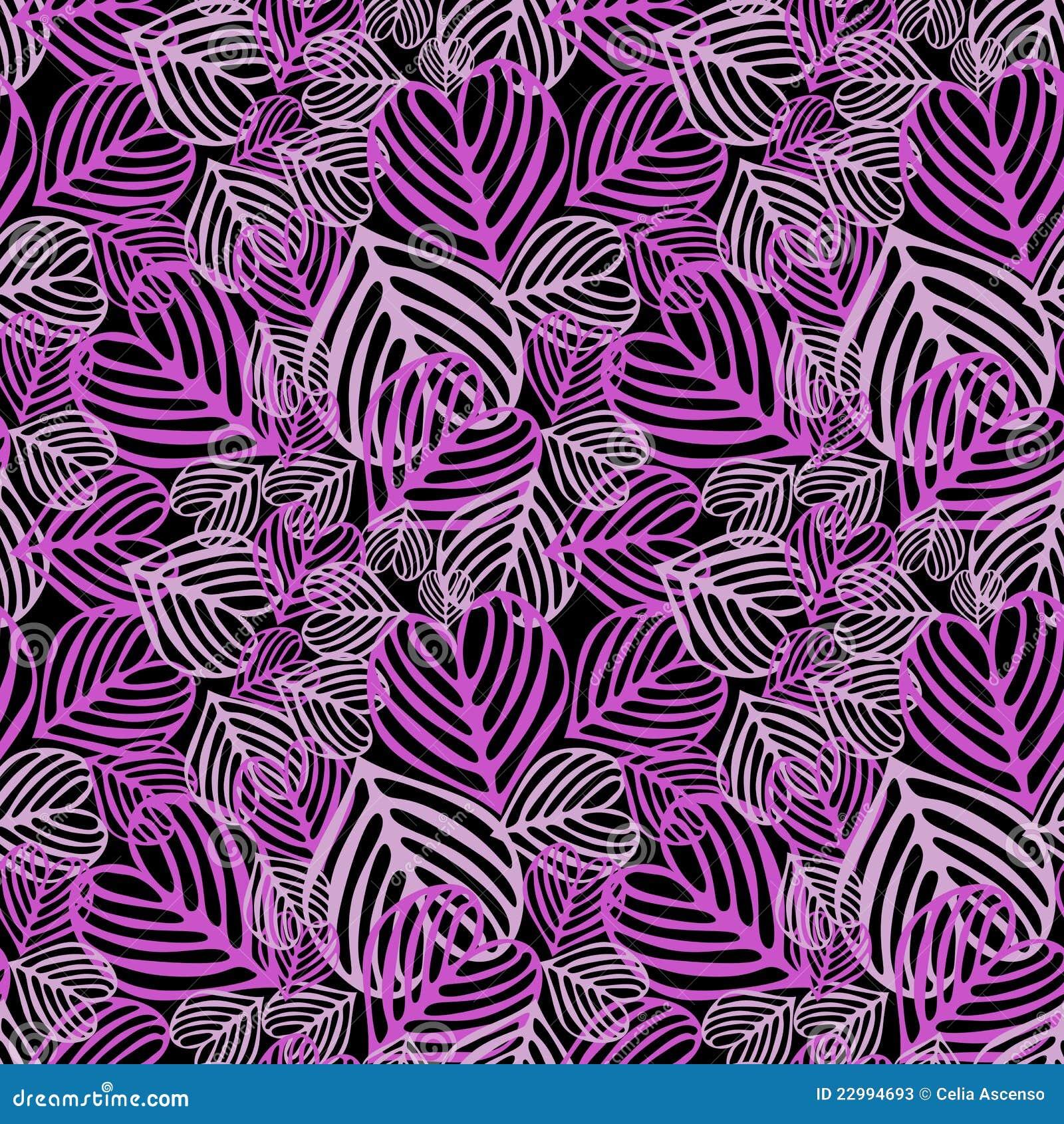 Follaje caido púrpura inconsútil