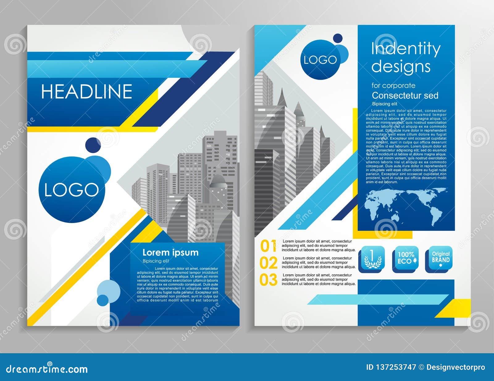 Folleto del negocio o plantilla elegante del diseño de la presentación Ejemplo del vector para hacer publicidad, el promo, las pr