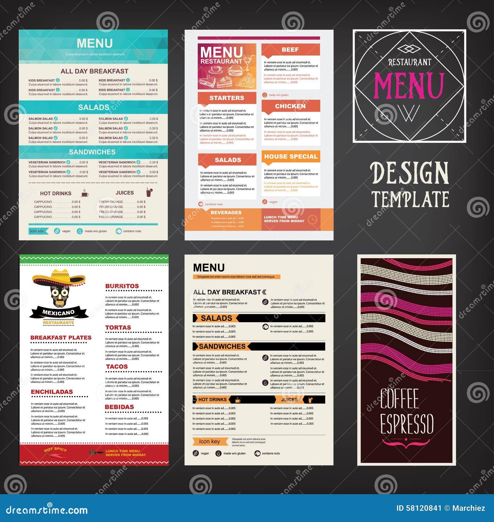 Folleto Del Restaurante Del Menú Del Café Plantilla Del Diseño De La ...